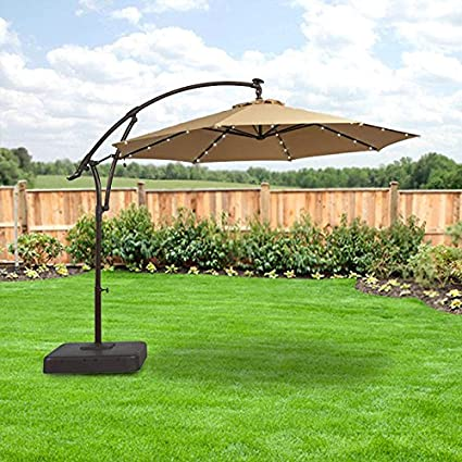 Superbe Amazon.com : Garden Winds LED Offset Solar Umbrella Replacement Canopy Top  Cover : Garden U0026 Outdoor