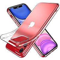 Youriad iPhone 11 ケース カバー | 透明 クリア ソフト カバー| 特徴 軽量 6.1インチ 薄型 ストラップ 滑り止め ワイヤレス充電対応 落下防止 TPU(iPhone11 XI 専用)