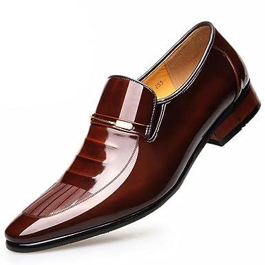 3631250fa00c54 Leder Lackleder Business Anzüge Schuhe Herren England Hochzeitsschuhe   Amazon.de  Bekleidung
