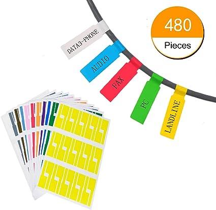 Amazon.com: hraindrop 16 hojas autoadhesivas para Cable ...