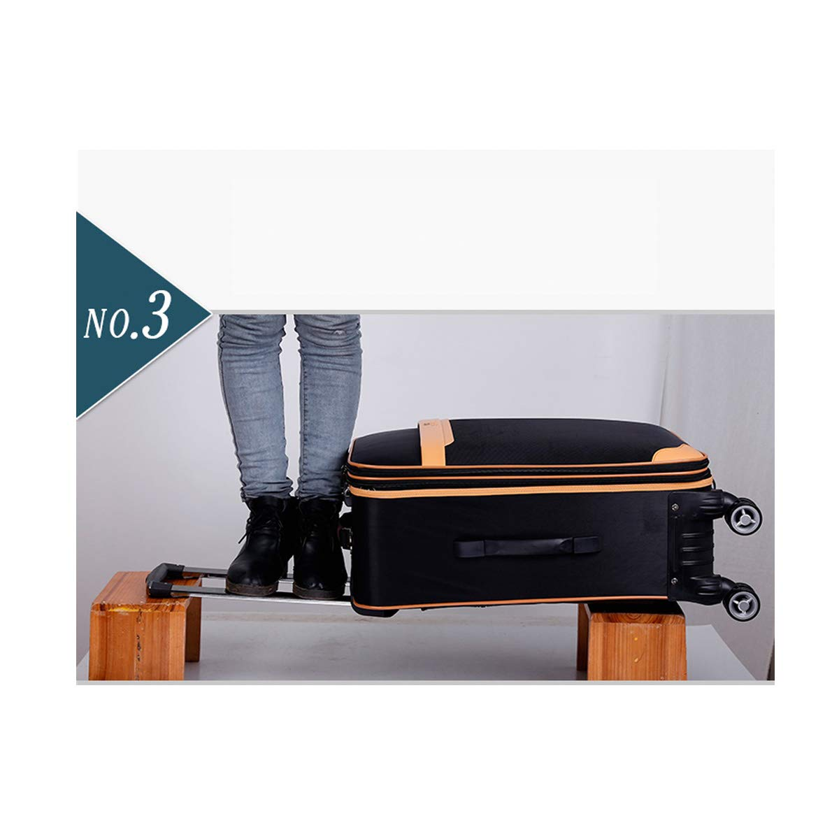 Trolley Case Best Gift Bahaowenjuguan Soft Rotating Luggage Travel Organizer Color : Black, Size : 24 Black 20 Carrying Case