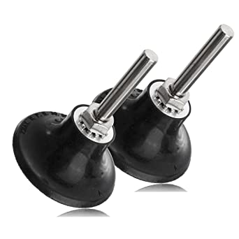 2X 1//4/'/' Shank 2/'/' /& 3/'/' Sanding Disc Holder Roll Lock Grinder Rotary Pad Holder