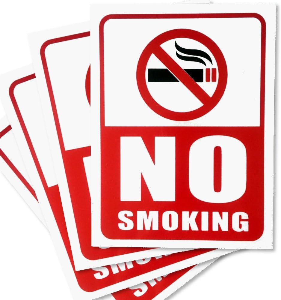 Amazon.com: No Smoking firmar – 4 piezas – sin óxido – Claro ...