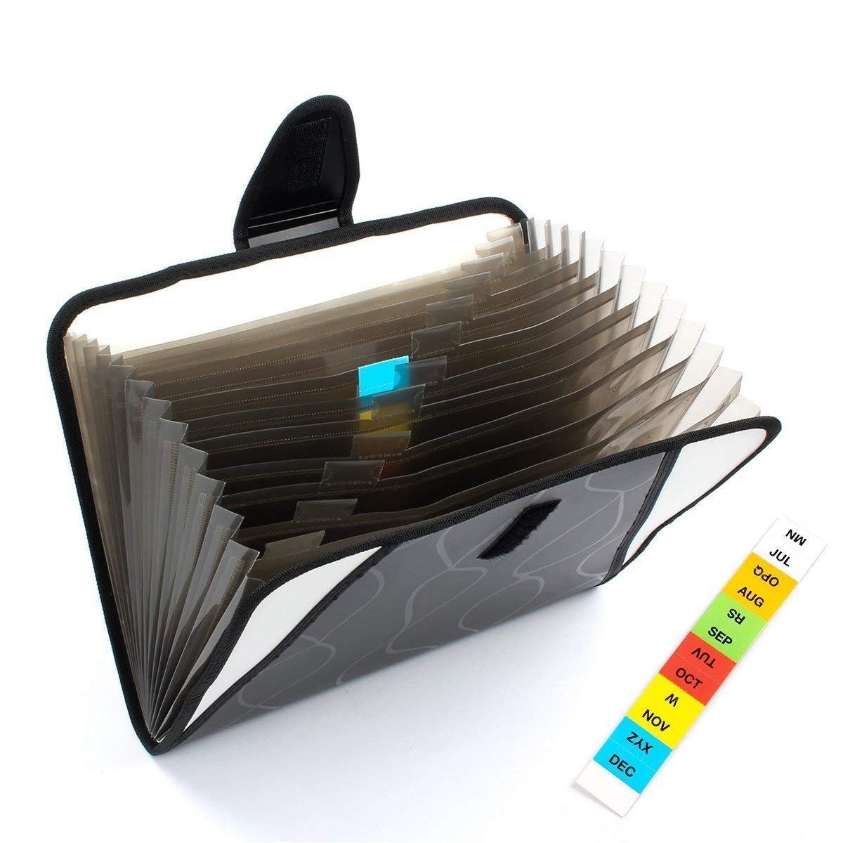 Yebmoo 13/ tasche espandibile portatile Accordion file cartella documenti file organizzatore velcro /& lettera di formato A4 MS-Folder Black