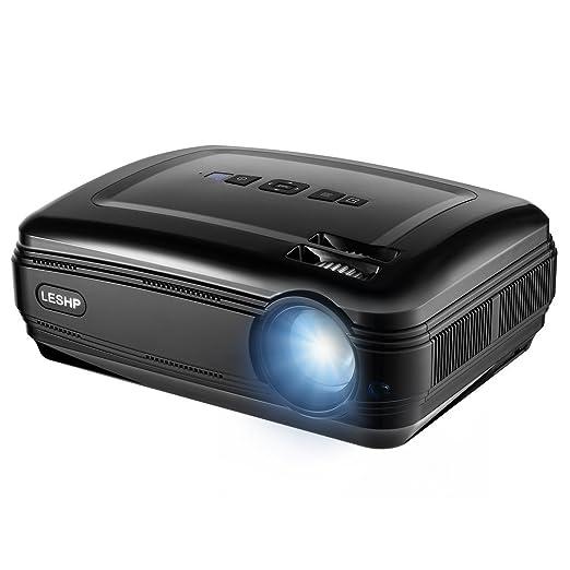 50 opinioni per LESHP Proiettore LCD- 3300 Lumen, 1280*800, Contrasto 3000:1 -Proiettore Video