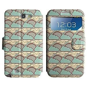 LEOCASE Nube Azul Funda Carcasa Cuero Tapa Case Para Samsung Galaxy Note 2 N7100 No.1000509
