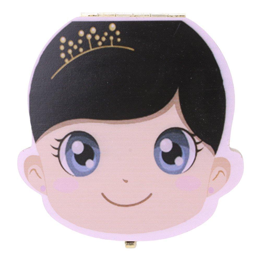 GGG 1pc Couleur Mignon Imprimé Boîte des Dents Organisateur pour Bébé Dents de Lait Boîte de Rangement Cadeaux 3-6 ANS pour Enfant - Fille