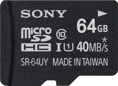 Sony 64GB microSDXC Class 10 UHS-1 Memory Card