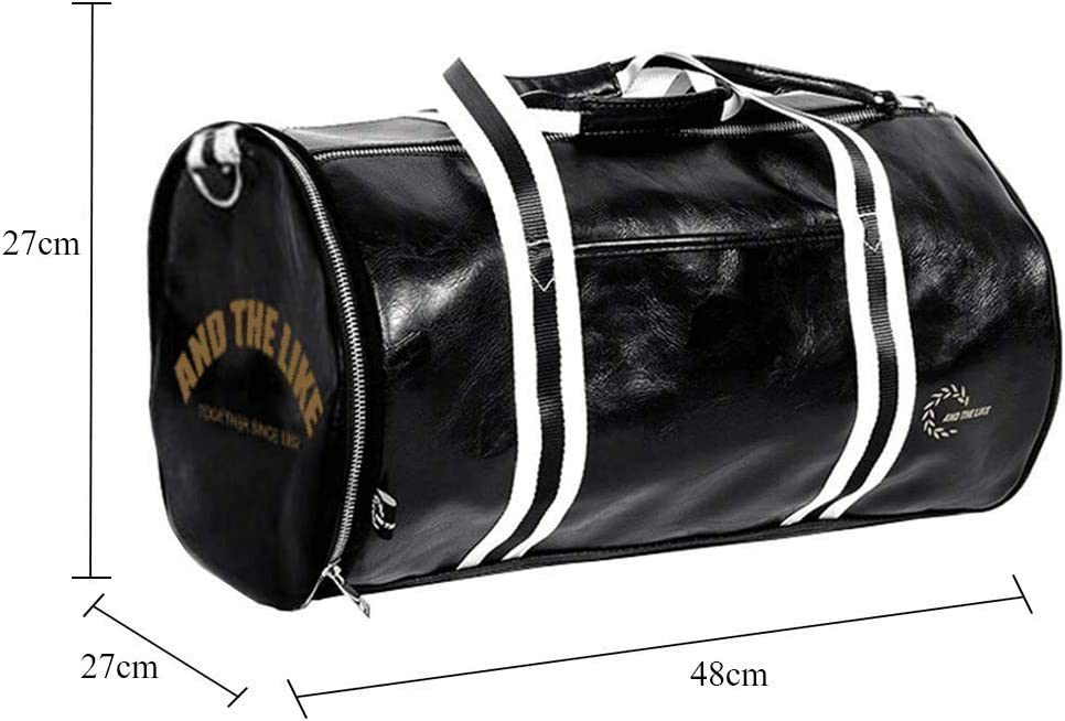 Quanjie Sac de Sport Imperm/éable PU Cuir Sacs de Voyage de Weekend Mini Gym Travel Duffel Bag pour Femmes et Hommes avec Compartiment /à Chaussures S/épar/é