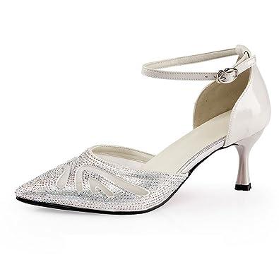 Sandales de Danse de Chaussures BYLE Modern en Cuir Cheville Sangle CqtPR