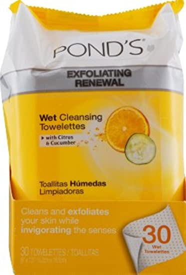 Ponds Wet Cleansing Towelettes, Morning Fresh, 30 Each (Pack of ...