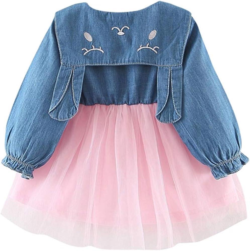 Julhold - Vestido casual de algodón con diseño de retales para bebés y niñas de 0 a 3 años Rosa rosa 6-12 Meses: Amazon.es: Ropa y accesorios