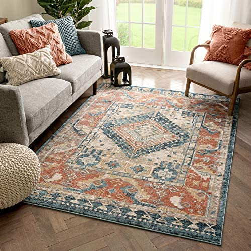 Well Woven Kete Rust Red Tribal Medallion Area Rug 8×10 7 10 x 9 10