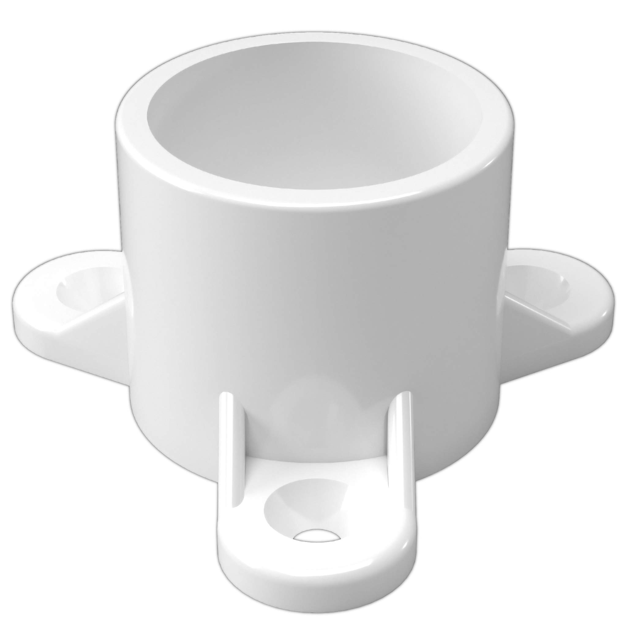 FORMUFIT F001ECT-WH-10 PVC Table Cap, Furniture Grade, 1'' Size, White (Pack of 10)
