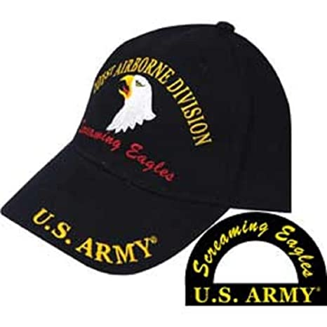 Image Unavailable. Image not available for. Color  K s Novelties Army 101st  Airborne Screaming Eagles Division Black Embroidered Cap Hat Adjustable 65900716775a