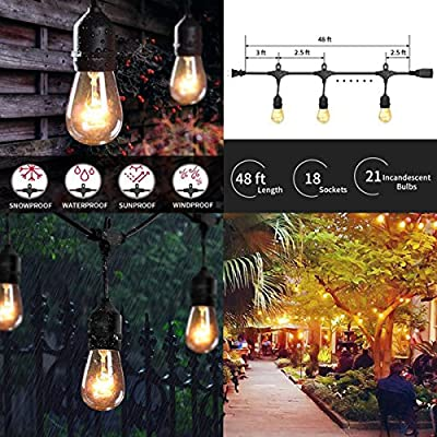 Decute Curtain Lights, 9.8 X 9.8ft 306 LED Starry Fairy Icicle Light For Wedding, Bedroom, Bed Canopy, Garden, Patio, Outdoor Indoor (Warm white)