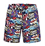 Azuki Funny Graphic Shorts Fashion Tall Casual Hip Hop Surf Boardshorts S