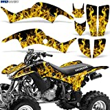 honda 400 ex stickers - Honda TRX400EX 1999-2007 Graphic Kit ATV Quad Decal Sticker TRX 400 EX FLAMES YELLOW