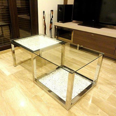 Domine Design -Mesa de Centro Salon Moderna | Cristal y ...