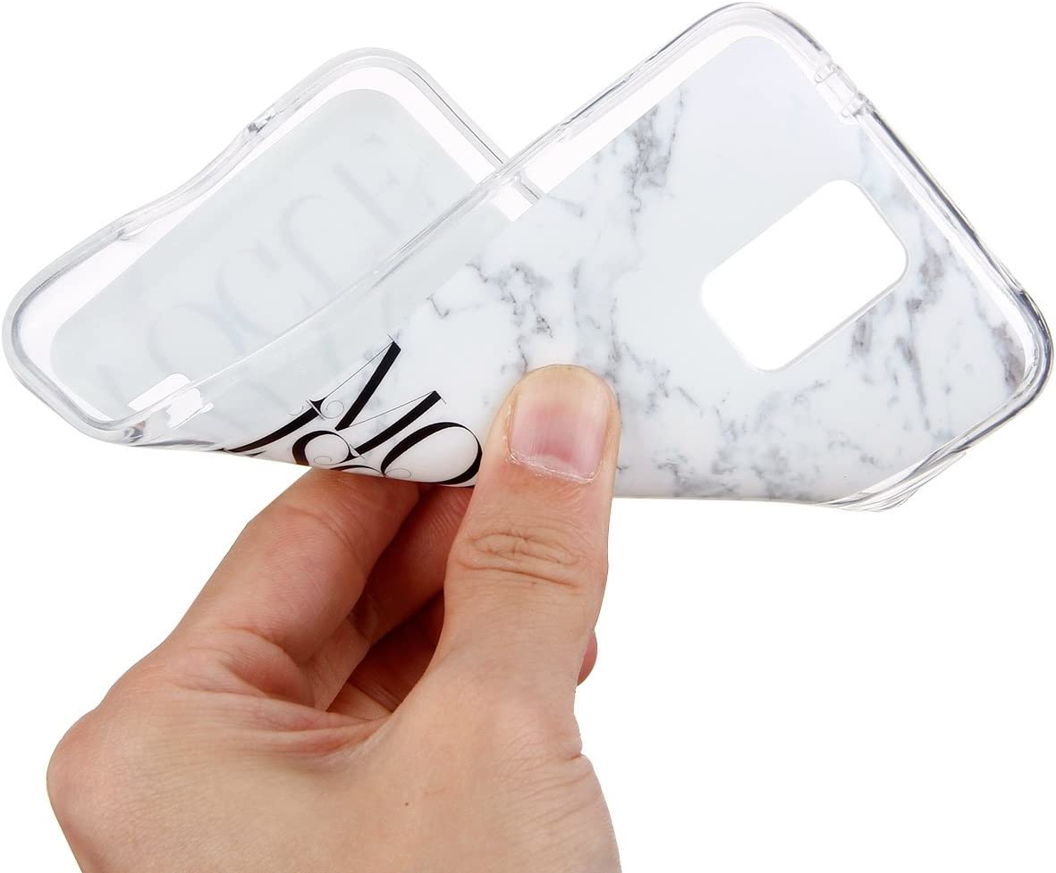 Marble Design Clear Bumper Case Soft Gel Rubber TPU Silicone Cover with Fashion Design Slim Fit Ultra Thin Protective Cover for Samsung Galaxy S5 PHEZEN Galaxy S5 Case Marble Series #1