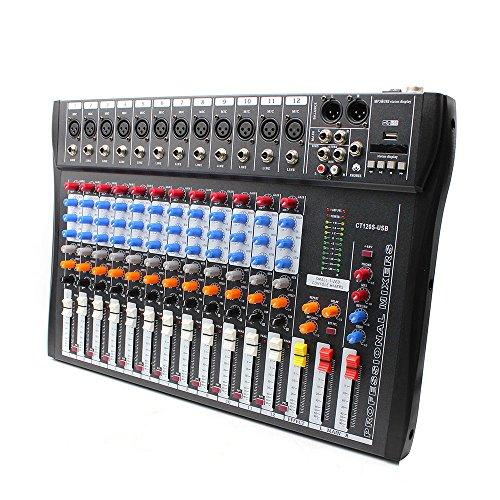 USB CT120S Sound Live Studio Mixer 12 Channel Line PRO Audio Mixing Consoles