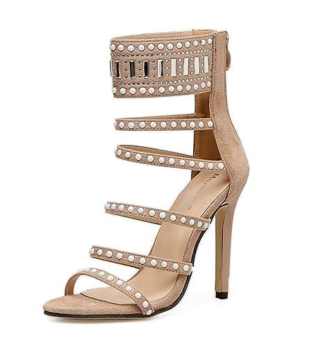 68827e05b46 Amazon.com | edv0d2v266 Women Shoes 2018 Peep Toe Booties High Heels ...