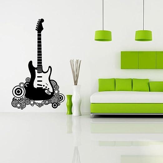 DECAL WALL VINYL DECOR STICKER BEDROOM MUSIC KIDS CHILDREN ART GUITAR ROCK STAR