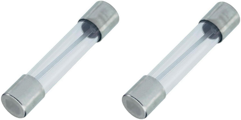 10 Stück Glassicherungen 6,3 x 30 6,3 x 32 mm   0,63 Ampere flink