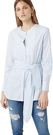 MANGO - Camisas - para mujer azul azul celeste 40: Amazon.es: Ropa y accesorios