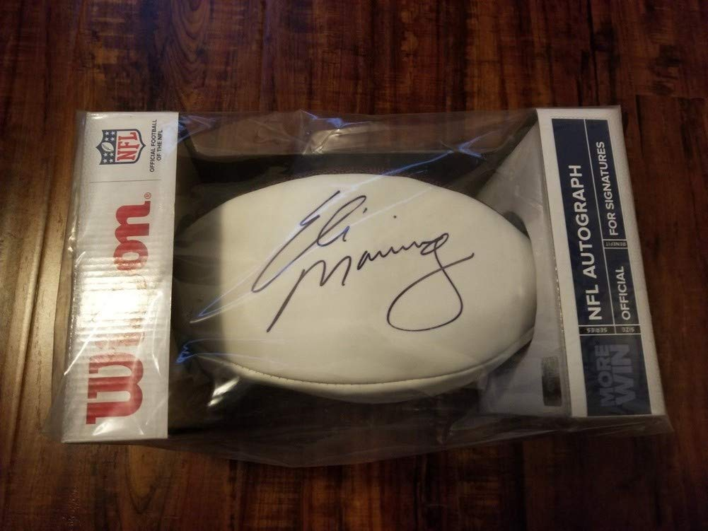 Eli Manning Autographed Signed New York Giants Football Steiner Coa