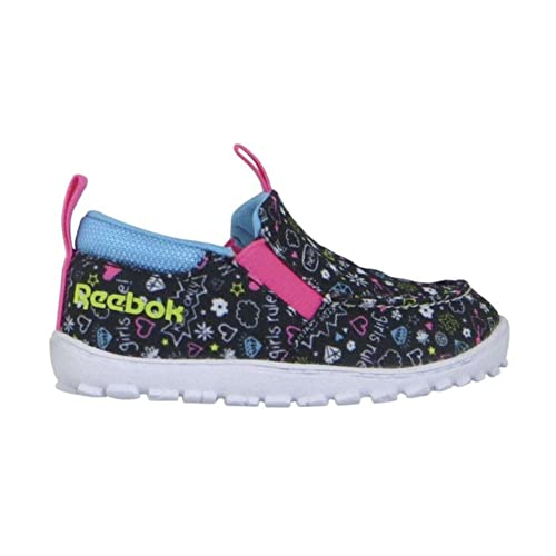 77eaf36181266 Reebok Ventureflex Moc NAA Kids Casual Shoe 10 Black-Blue-Pink-White ...