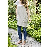 Pinafore (Natural Linen, Adult Petite (5'' shorter))