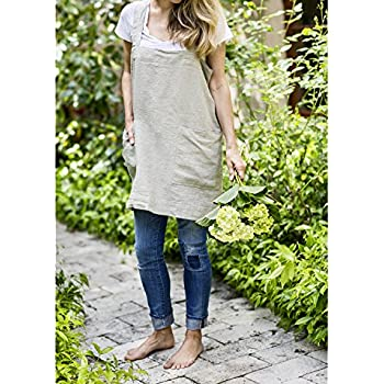 Pinafore (Natural Linen, Adult (up to size 16))