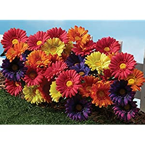 The Paragon Artificial Flowers - Fake Colorful Daisy Plant, Realistic Outdoor Silk Flower 59
