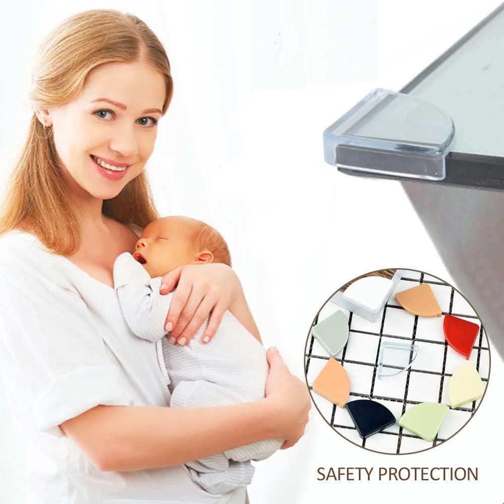 SENDILI Protectores de Esquina de Seguridad 8piezas Rojo Protectores Esquinas para Beb/és y de Ni/ño Protege Esquinas para Muebles
