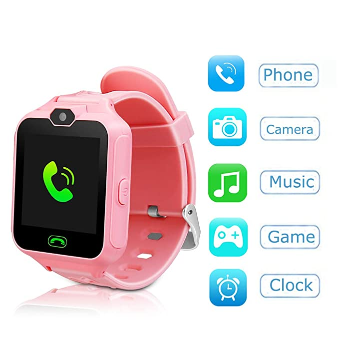YNCTE Kids Smart Watch Phone Watch for Kids Smartwatch Camera Games Touch Screen Cool Toys Smart Watch Gifts for Girls Boys Children (Pink)