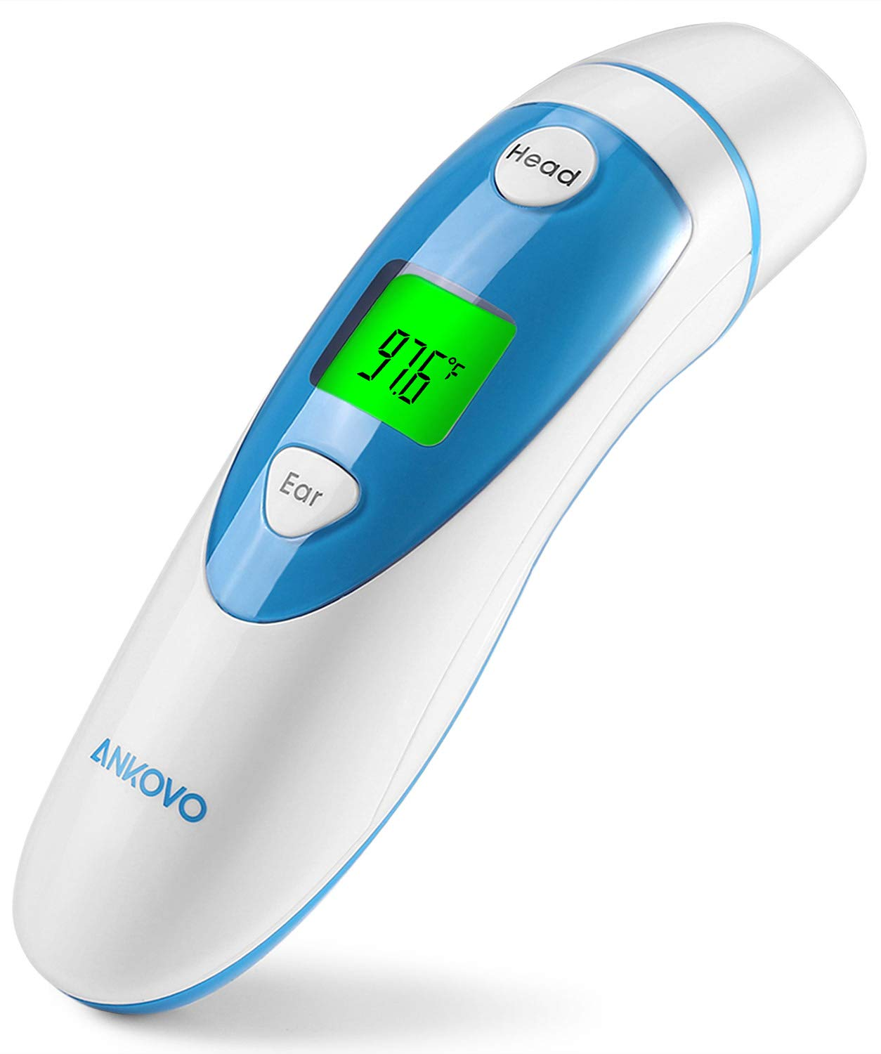 ANKOVO Medical Forehead and Ear Thermometer,Infrared Digital Thermometer Suitable for Baby, Infant, Toddler and Adults with FDA and CE Approved