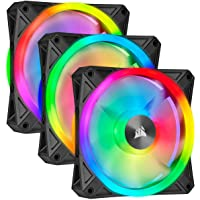 Corsair QL120 RGB, 120 mm, RGB LED Fan With Lighting Node Core - Black (Triple pack)