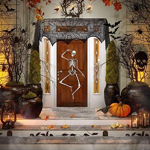 61qPO6pYE1L. AC  - Black Halloween Garland Mantle Decorations Indoor