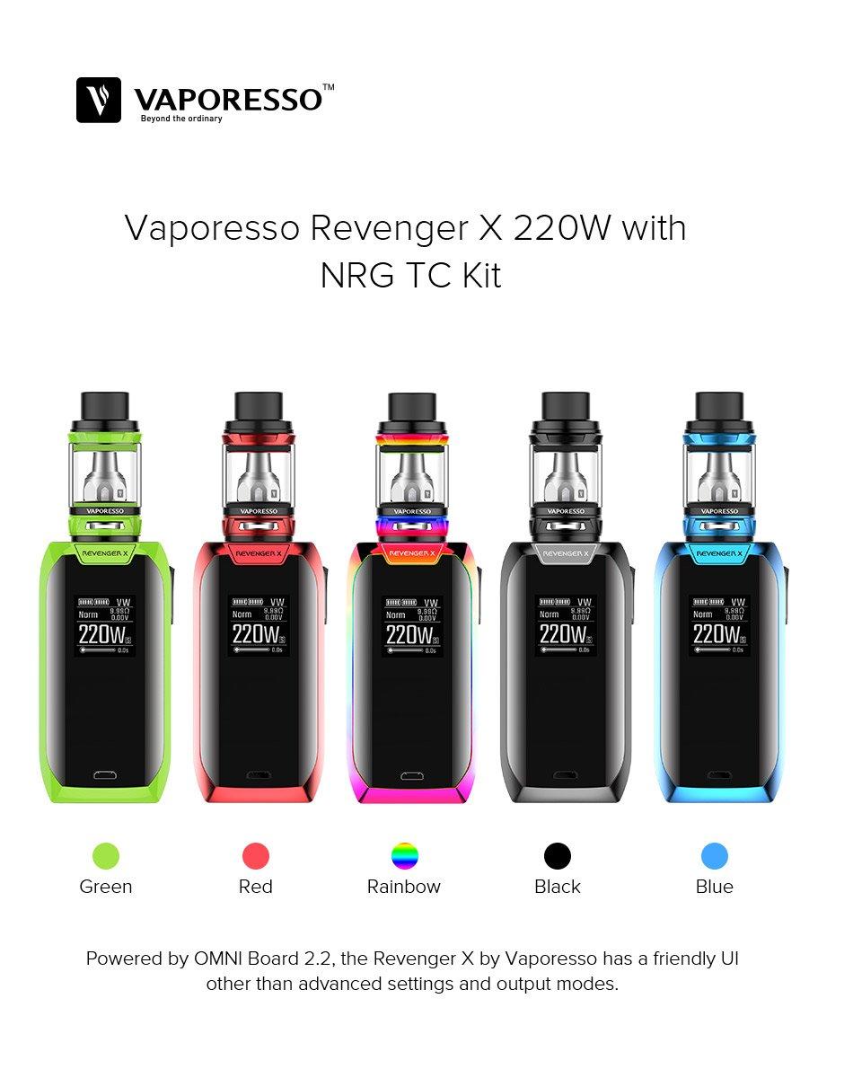 (Nuevo en stock) Vaporesso Revenger X 5ml Kit 220w Sin nicotina y tabaco (negro): Amazon.es: Salud y cuidado personal