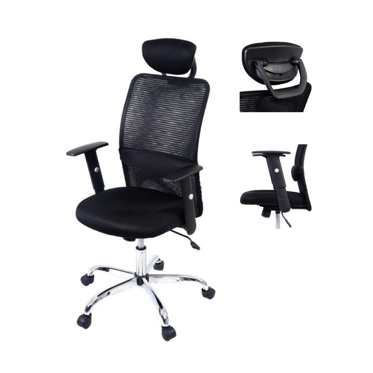 Ergonomic Mesh High Back Office Chair Soft Sponge Upholstery 360 Degree Swivel Home Office Gaming Desk Task - With Headrest #1517