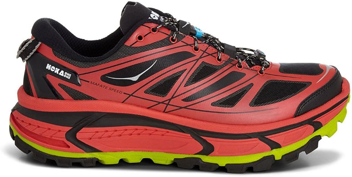 Hoka Mafate Speed Zapatilla de Trail Running Caballero, Rojo/Negro ...