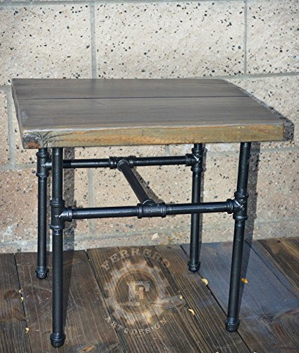 Steampunk Table, Side Table, Steampunk Nightstand, Small Table, Industrial Pipes, Industrial Decor, Steampunk Decor, Office Decor