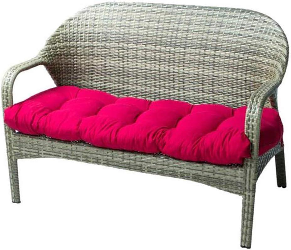 "Indoor/Outdoor Bench Cushion Cotton Garden Furniture Loveseat Cushion, 51.2""x19.7"" Patio Wicker Seat Cushions for Lounger Garden Furniture Patio Lounger Bench (Red)"