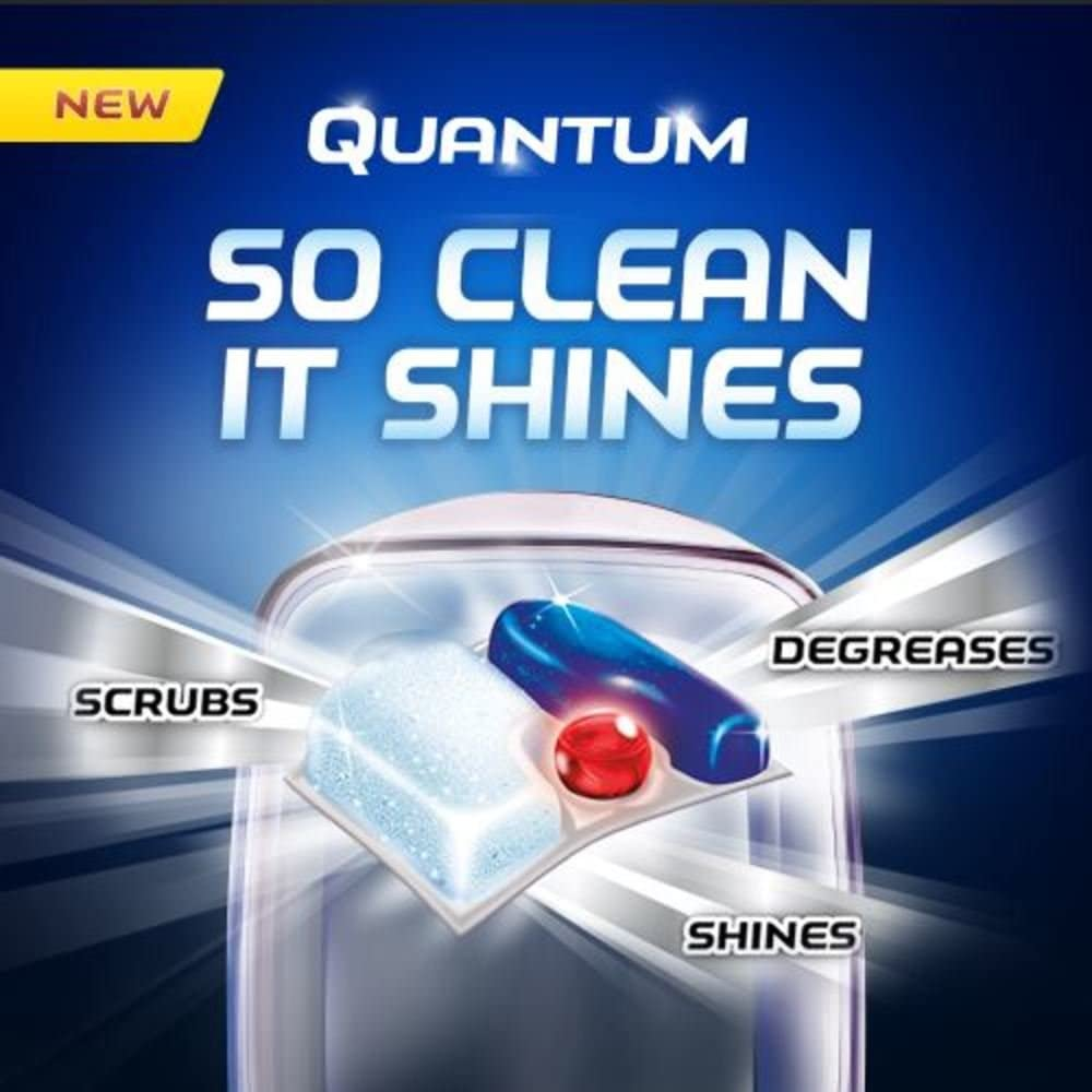 Finish - Quantum - 58ct - Dishwasher Detergent - Powerball - Ultimate Clean & Shine - Dishwashing Tablets - Dish Tabs: Health & Personal Care