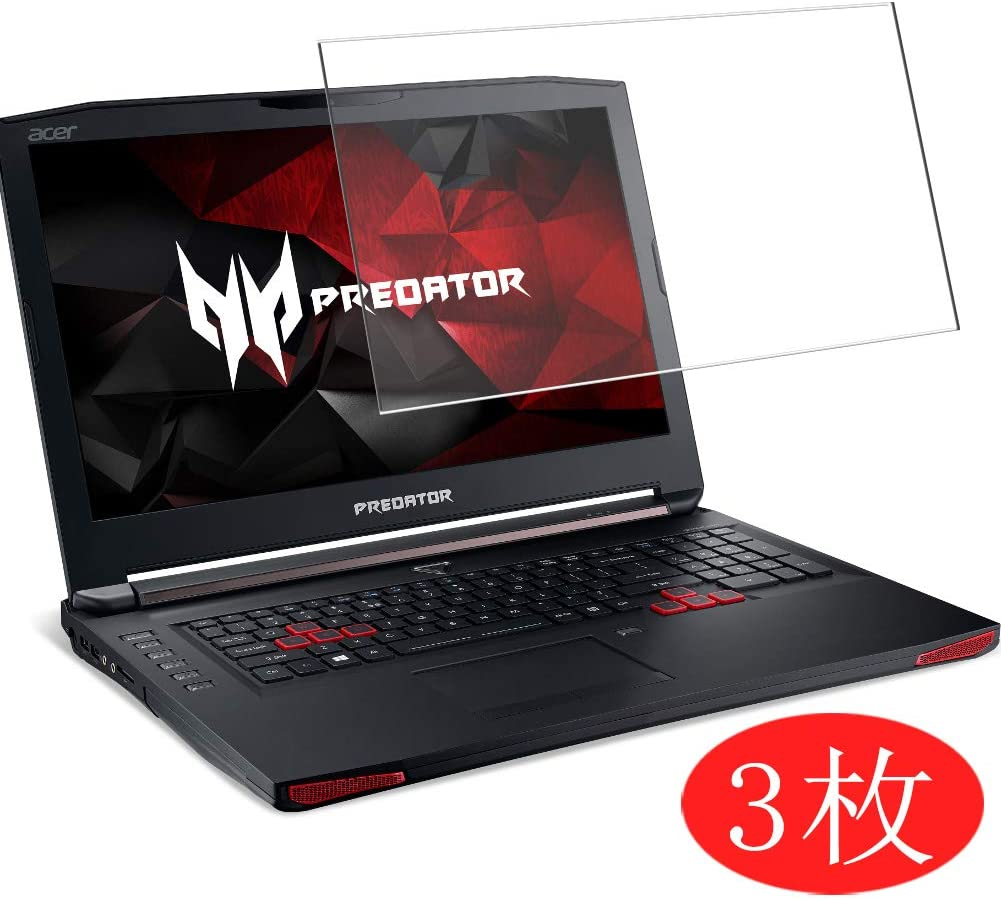 """【3 Pack】 Synvy Screen Protector for Acer Predator 17 G9-791 / G9-792 / G9-793 17.3"""" TPU Flexible HD Film Protective Protectors [Not Tempered Glass]"""