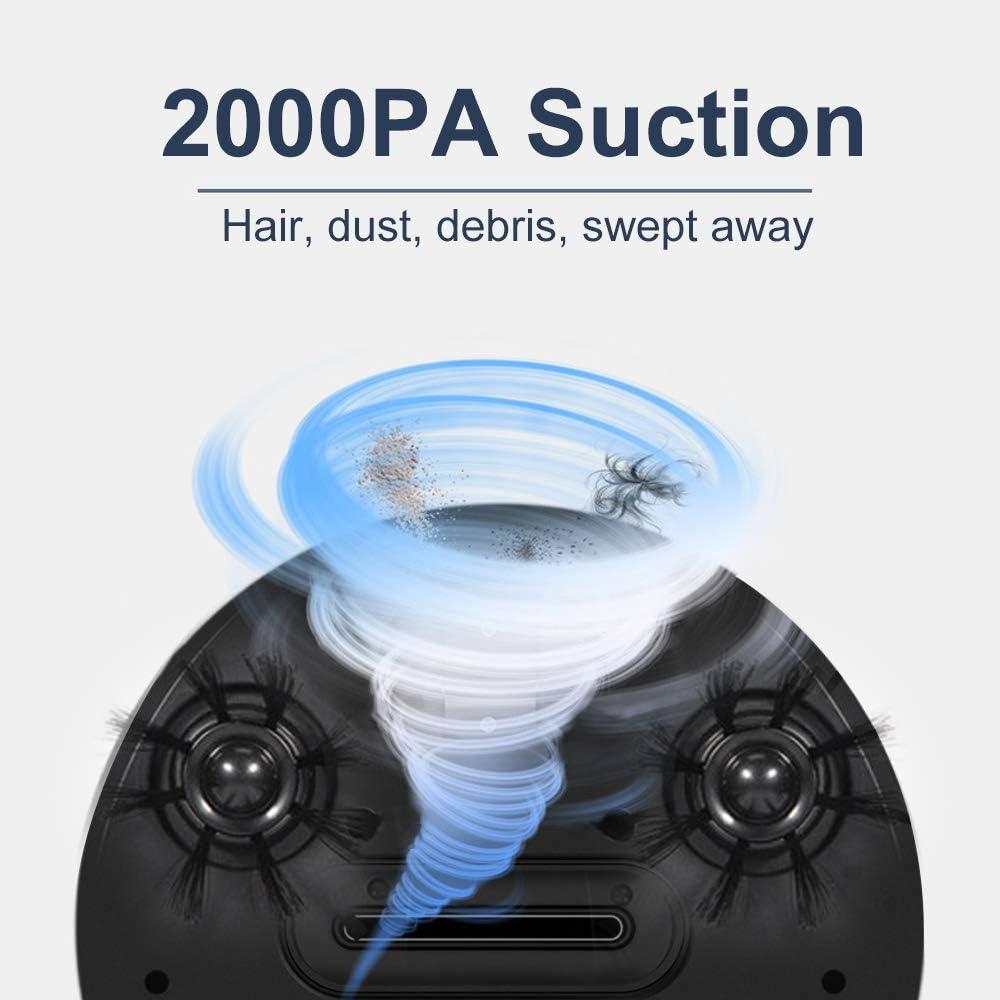 2000PA Automatique Aspirateur Robot Électrique Mopping Balayer Sweeper Aspiration Sans Fil Poussière Automatique Machine Anti-Chute Pour La Maison Nettoyage,Bleu Red