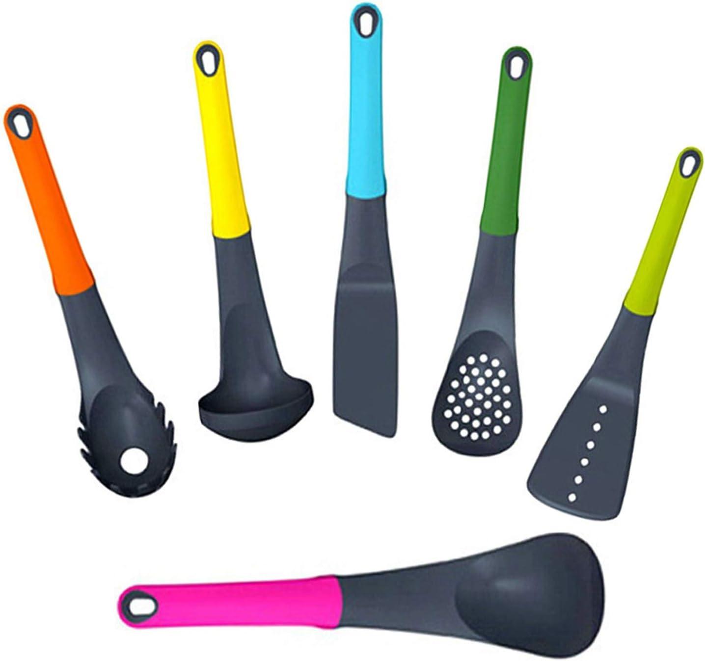 Kitchen Craft Tool Kit Cooking Utensils Tool Utensil Set Rotating Stand 7pcs