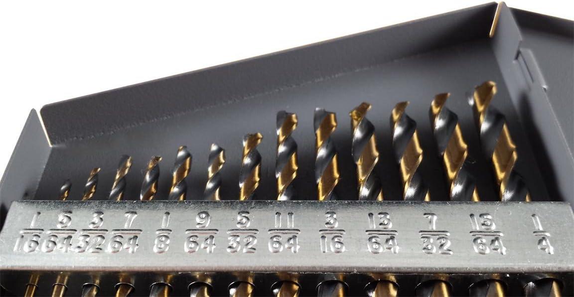 Drill Hog 13 Pc Hi-Molybdenum M7 Drill Bit Set 1//16-1//4 Drills USA
