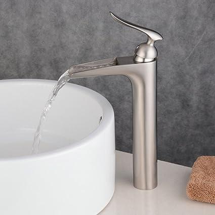 Beelee BL5605N Centerset One Handle Waterfall Lavatory Bathroom Sink ...
